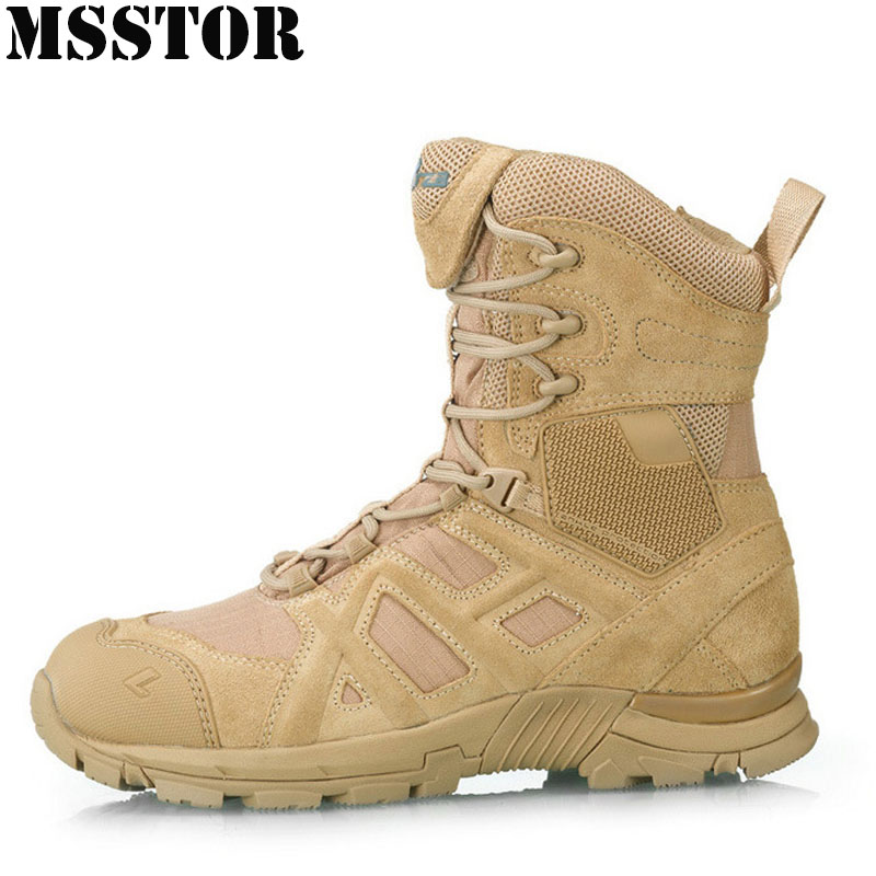 MSSTOR Men Hiking Shoes Man Brand Tactical Boots Outdoor Athletic Climbing Sport Shoes Hunting Trekking Camping Mens Sneakers mulinsen winter2017 ankle boots hiking shoes for men hunting trekking men s sneakers breathable outdoor athletic sports brand