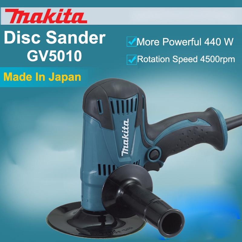Original Japan Makita GV5010 Polishing Machine Disc Sander Metal Polishing Polisher 440W 4,500rpm Power Tools 125mm (5) 5inch this fall 125mm pneumatic sander disc sandpaper machine bd 0142