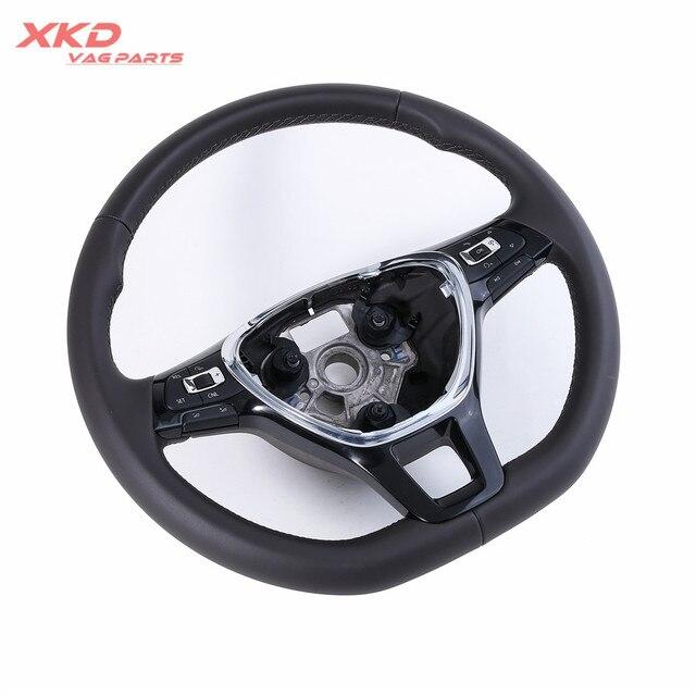 Light Brown Multifunction Steering Wheel With Cruise For Vw Jetta Mk6 5td 419 091 D Ljq 6c0 5ta