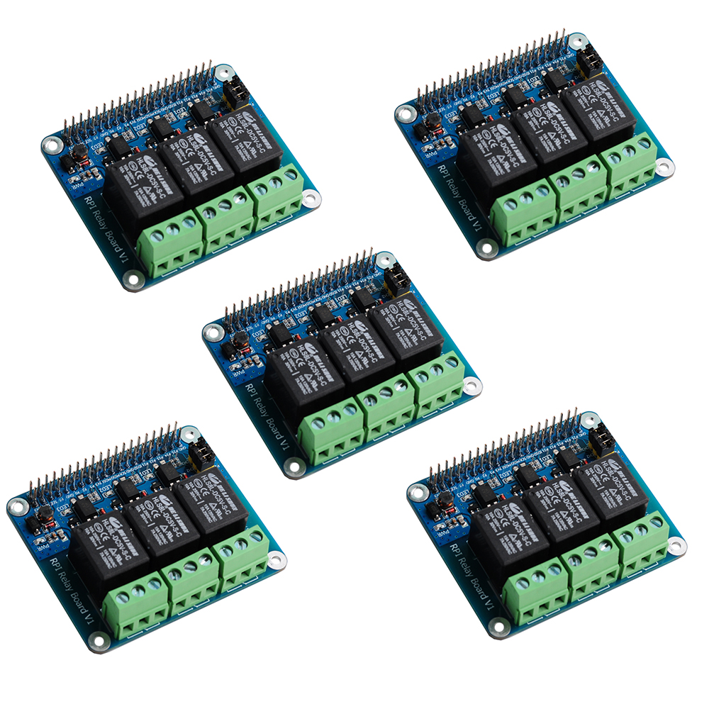 5Pcs/lot 3 Channel RPi Relay Board Module For Raspberry Pi A+/B+/2B/3B/3B+ RCmall FZ3727