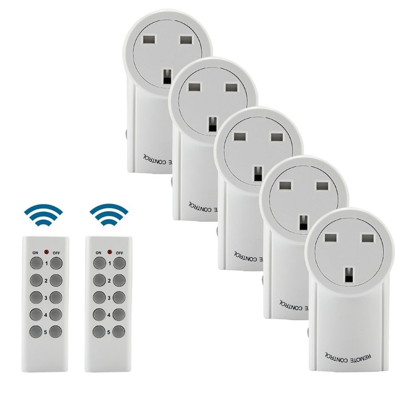 Power Outlet Light Socket Wireless Switch Home Mains UK Plug AC Power With 433 92MHz Remote