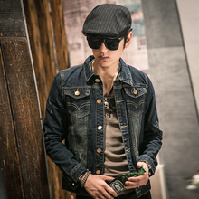 2017 New Winter Fashion Denim Jacket Men Casual Jeans Coats Outerwear Thicken Slim Fit Brand Male Clothing Free Shipping