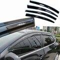 4 pcs Janelas de Ventilação Viseiras Chuva Guarda Sol Escudo Escuro Defletores Para Nissan Tiida 2011-2013