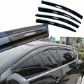 4pcs Windows Vent Visors Rain Guard Dark Sun Shield Deflectors For Nissan Tiida 2011-2013