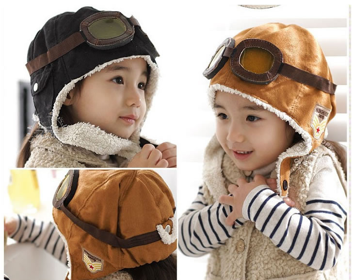 Baby Boys Girl Kids Infant Children Warm Winter Pilot Earflap Bebe Bonnet Hat Cap Beanie Hair Accessories Headwear Hats Caps