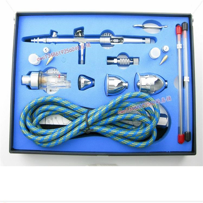 Фотография Dual Action Airbrush Air Brush Kit with Airbrush Hose and Spray Gun for Nail Art/ Tattoos Body Spray/ Cake Making/ Hobby Models