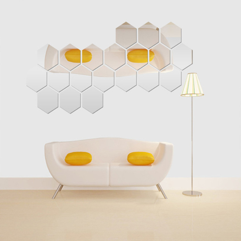 Acquista all 39 ingrosso online esagono piastrelle di for Espejo hexagonal ikea