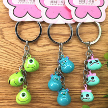 2019 New Fashion Cute Cartoon Cat Pendant Key Rings Kitten Chain Shake Head Bell Car Bag Keychains Creative Jewelry Gift