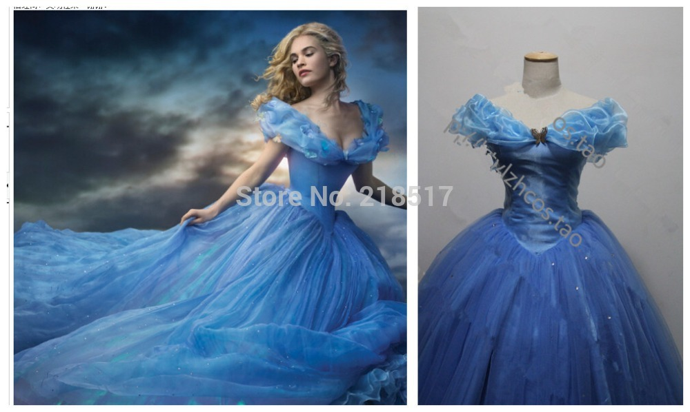 Custom Made New Design Adult Cinderella Princess Costumes Women Halloween Party Dress Cosplay Costumes Home