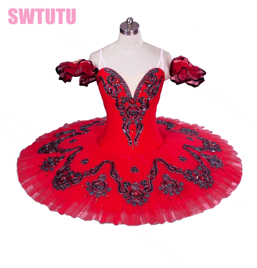 red swan lake ballet tutu,girls performing dance costumes,professional classical ballet tutus for girls,tutu danceBT8992