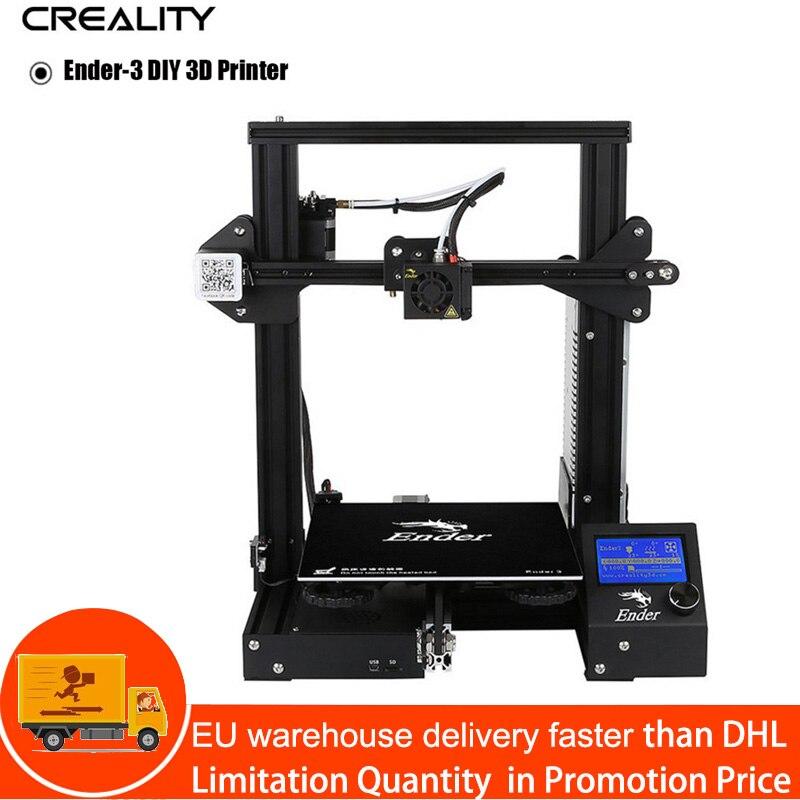 Kit de impresora Creality Ender 3 de escritorio 3D impresora Prusa I3 DIY 220x220x250mm MK8 extrusora 1,75mm 0,4mm boquilla de impresión