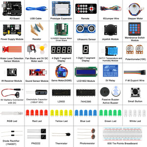 Image 2 - LAFVIN Super Starter Kit for Arduino UNO R3   Uno R3 Breadboard / Step Motor / 1602 LCD / jumper Wire / with CD Tutorial
