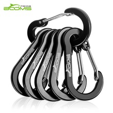Booms Fishing CC1 Wire Gate aluminum carabiner clips keychain carabiner clip climbing