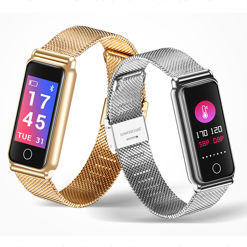 Montre Smart Watch Bracelet Poignet Montre de Sport Fitness Chaleur Moniteur de Fréquence Étanche Bluetooth Podomètre Montre-Bracelet Montre Smart Watch Femmes Hommes
