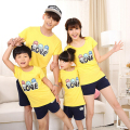 Family Clothing Look Fashion Short-sleeve T-shirts Short pants Tees Matching Outfits Clothes For Mother Mom Daughter And Father