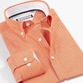 100% Cotton Men Shirt Imported Clothing Camisa Masculina Striped Long Sleeve Shirt Men Summer Style Men's Clohting