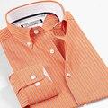 100% algodão dos homens Camisa importado vestuário Camisa Masculina listrado Camisa de manga longa estilo homens verão dos homens Clohting
