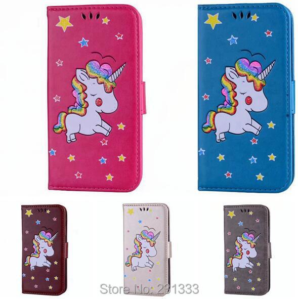 <font><b>Glitter</b></font> Unicorn Wallet Leather Case Pouch For Iphone X 8 8TH 7 PLUS <font><b>6</b></font> 6S 5 5S SE Horse Star TPU Stand ID Card Photo <font><b>Cover</b></font> 50PCS