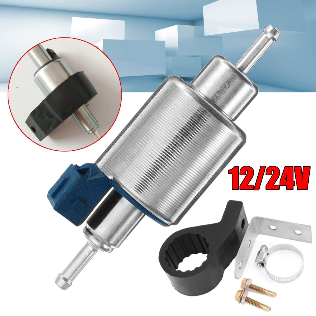 Bosch Car Fuel Pump Petrol Gasoline Bracket Assembly For Gm Electric 12v 24v Universal Diesel More Eberspacher Heaters