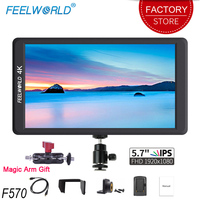Feelworld F570 5.7 inch DSLR On Camera Field Monitor IPS Full HD 1920x1080 4K HDMI Input for Sony Canon Nikon Mirrorless Camera