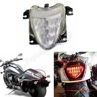 Papamda Clear LED Motorcycles Winker Lamp Blinker Rear Tail Brake Light Amber Red Light for 2006 2009 Suzuki Boulevard M109R