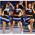 De manga curta top colheita glee cheerleader traje uniforme de futebol outfit fancy dress