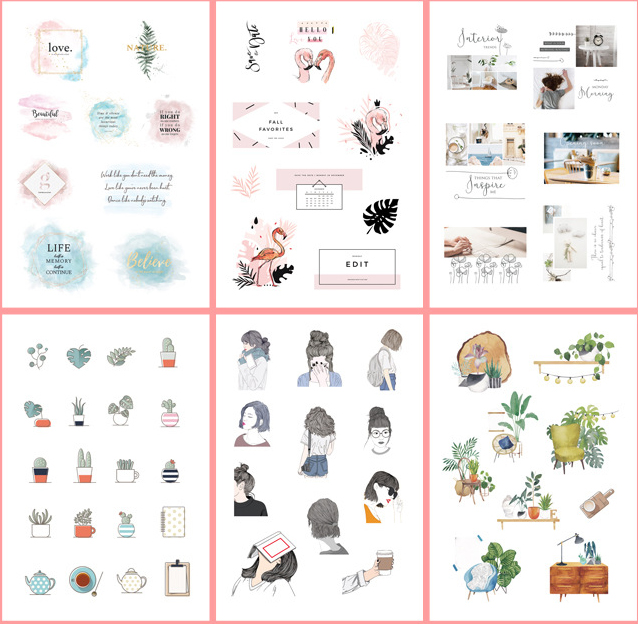 6 pcs/pack INS Style Daily Fun Bullet Journal Decorative Stickers Scrapbooking Stick Label Diary Stationery Album Stickers6 pcs/pack INS Style Daily Fun Bullet Journal Decorative Stickers Scrapbooking Stick Label Diary Stationery Album Stickers