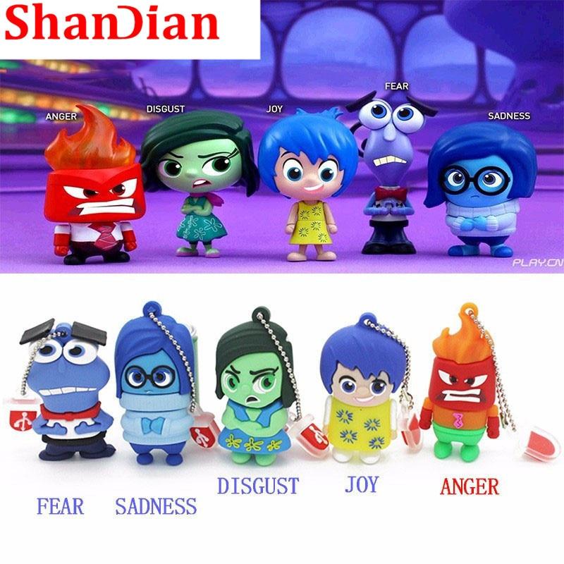 SHANDIAN Cartoon Wholesale Cute Mini Pen Drive USB 4G/8G/16G/32G/64G Flash Drive Original Gift Hot Sale Cartoon Pendrive U Disk