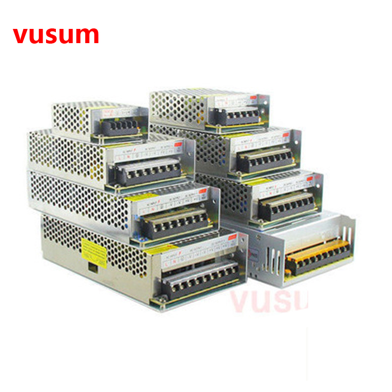 Vusum 12V Power Supply AC85-110V 220V To DC5V 12V 24V  2A  5A 10A  20A 30A  CCTV / LED Strip Power Adapter