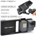 Pgy adaptador para dji gopro hero 5 osmo zhiyun móvel 4 3 3 + xiaomi yi1 acessórios peças de interruptor placa de montagem cardan câmera zangão