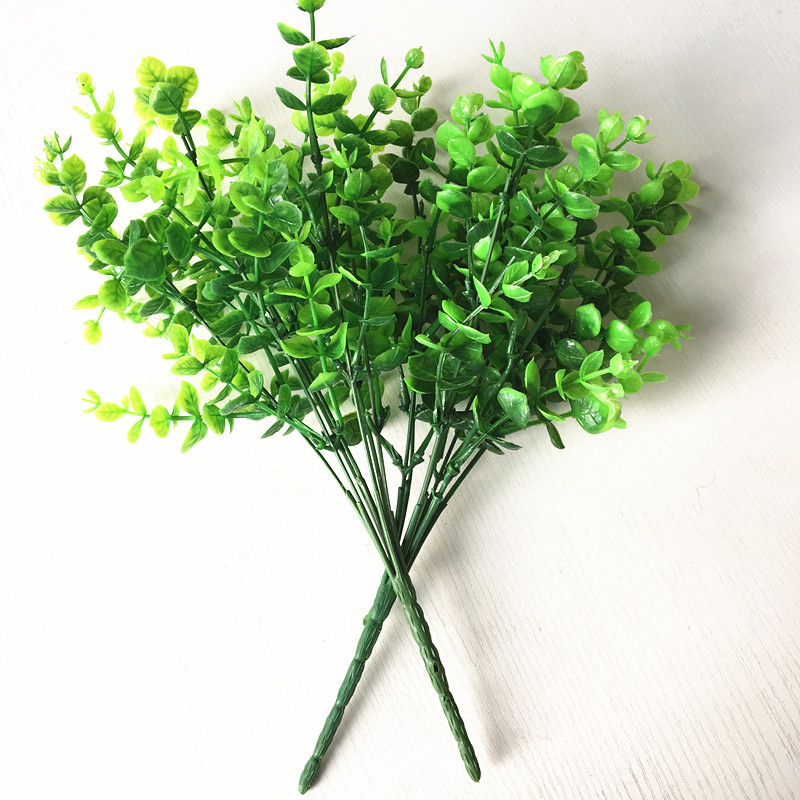 7Head small Artificial leaf bouquet Photo background simulation of plant plastic flowers Free Shipping