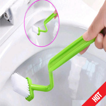 1PCS S-shaped Curved Toilet Cleaning Brush Household Tool Bathroom Accessories Free Shipping