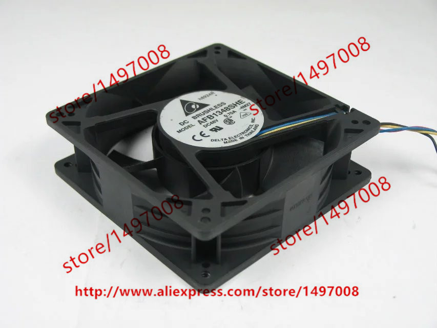 Free Shipping For DELTA AFB1348SHE, -4M27 DC 48V 0.70A, 127x127x38mm 4-wire Server Square Cooling Fan free shipping for delta pfb0848dhe ck2a dc 48v 1 00a 80x80x38mm 4 wire server square cooling fan