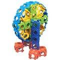 2017 Wise Hawk 412 Квадратные Пряжки Дети DIY Развивающие Игрушки Творческие Строительные Блоки Собрать Enlighten Children Toy