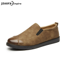 New Arrival Men Pu Leather Loafers Slip On Flat Shoes Driving Boat Flats Shoes Sneaker Men oxford Shoes Moccasins цена