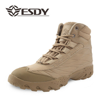 2017 Men Outdoor Sport Shoes Hiking Shoes Desert Camouflage Army Combat Boots Military Tactical Hiking Boots Coturnos Masculino