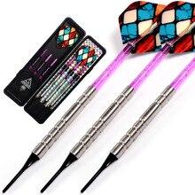 CUESOUL Swords Series 18 Grams 95% Tungsten Soft Tip Darts Set 018 cuesoul 18 grams soft tip tungsten darts 85