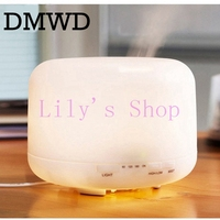 DMWD LED Night Light Diffuser Ultrasonic Humidifier Fogger Aromatherapy Air Purifier Timing Mist Maker For Home