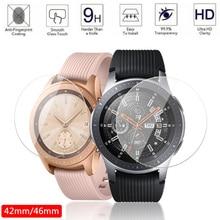 2 sztuk ochronne szkło hartowane na ekran do Samsung Galaxy Watch 46mm 42mm ochronna folia na ekran anty wybuchu straży Watch Band