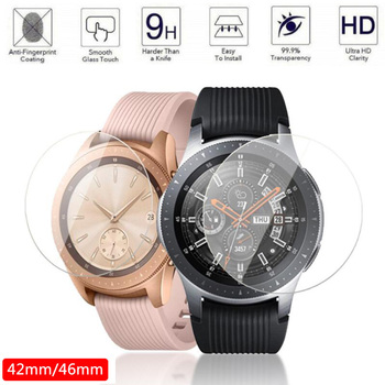 2pcs Tempered Glass Screen Protector for Samsung Galaxy Watch 46mm 42mm Protective Film Anti Explosion Guard Band - discount item  41% OFF Watches Accessories