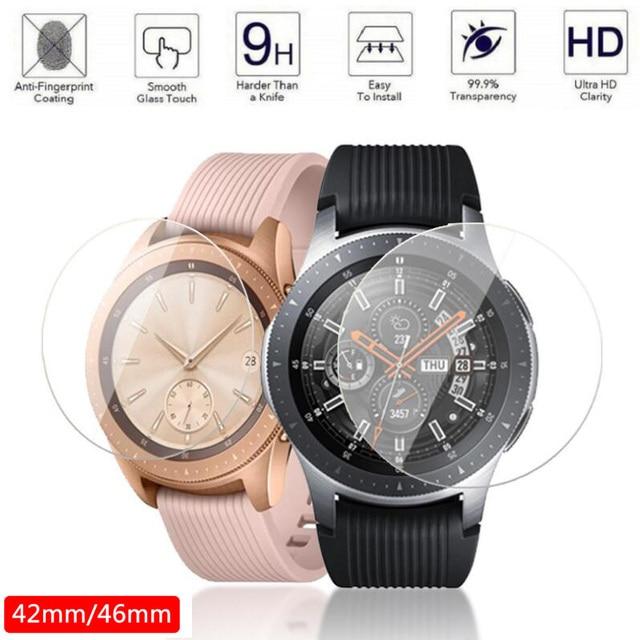 2pcs Vetro Temperato Protezione Dello Schermo per Samsung Galaxy Orologio 46 millimetri 42 millimetri di Protezione Pellicola di Schermo Anti Esplosione Guardia watch Band