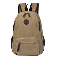 Vintage Canvas Travel Backpack Men Casual Men Laptop Backpack 14 Inch Leisure School Bags For Teenage