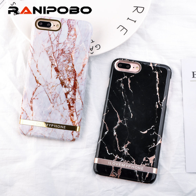 Luxury Rose Gold Marble Print Phone Case For Iphone Xs Max Xr Case