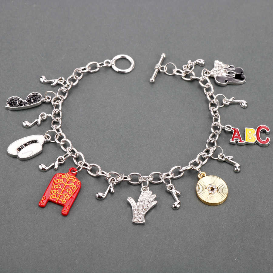 Браслеты с Майклом Джексоном для женщин ювелирное изделие жесткий браслет аксессуары цепочка Подвески Браслет музыкальные вентиляторы подарки