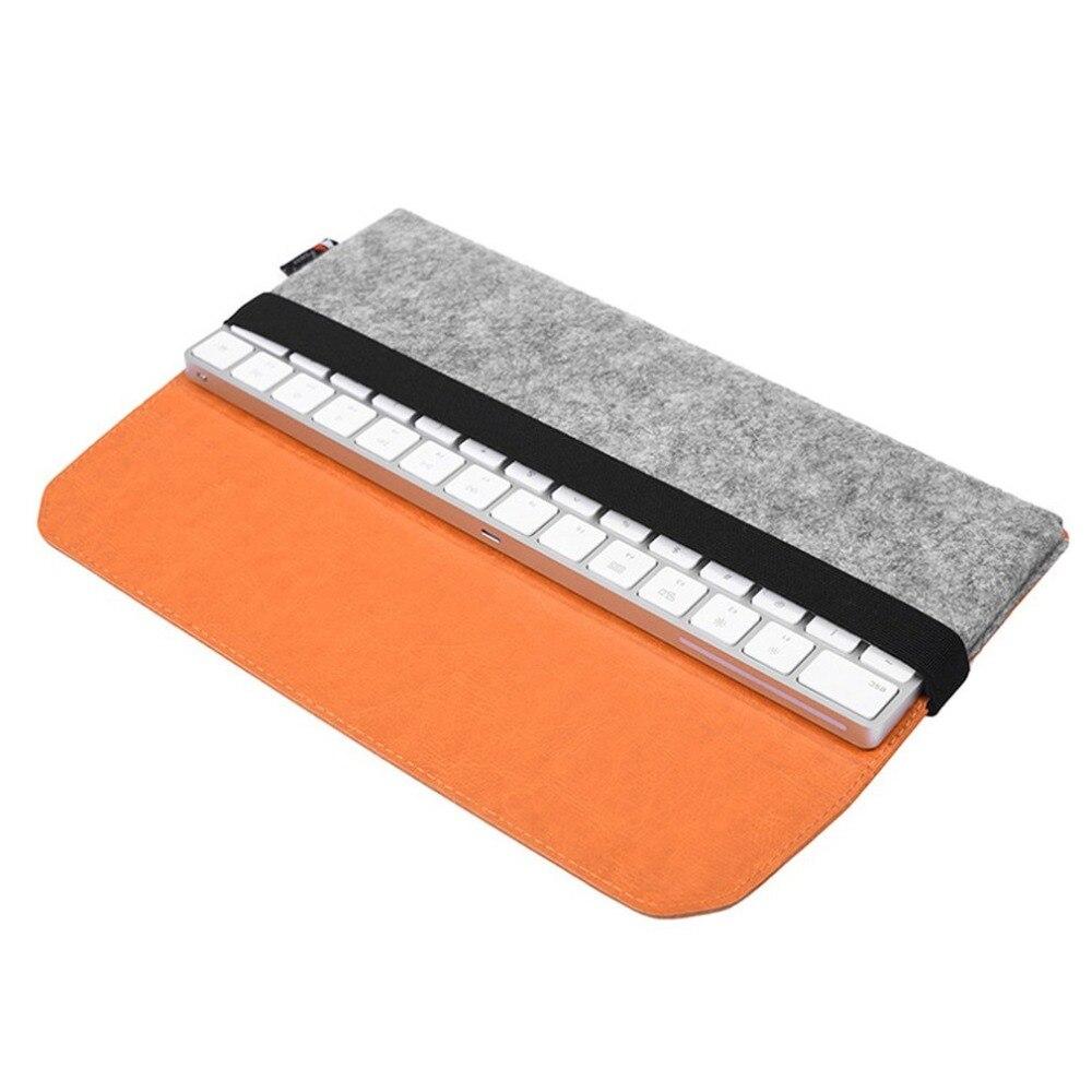 Caso de armazenamento de proteção saco de concha para magia trackpad feltro bolsa manga macia para teclado mágico