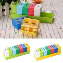 7 Days Portable Pill Medicine Box Travel Weekly Medicine Health Storage Pill Box Organizer Dispenser Detachable Pill Cutter Case 14 grids 7 days weekly pill case medicine tablet dispenser organizer pill box splitters pill storage organizer container hot