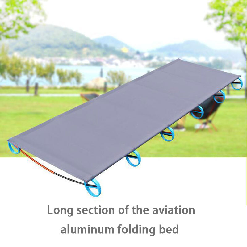 New Portable Folding Camping Cot Off Ground Aerial Aluminum Alloy Ultralight Bed Camping Mat Moisture-proof Elevated Bed Mat ultralight aluminium alloy camping mats