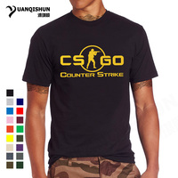 YUANQISHUN Новинка 2018 года CS GO Футболка с принтом Counter Strike Global Offensive CSGO Горячие игры команды на заказ для мужчин фирменная футболка