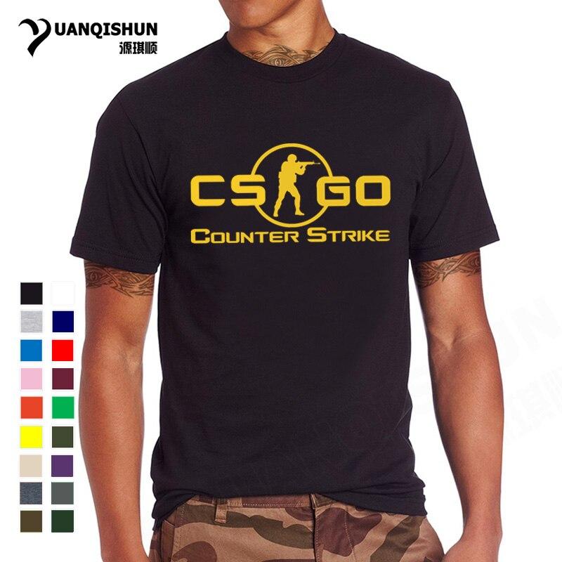 YUANQISHUN 2018 New CS GO Print   T     Shirt   Counter Strike Global Offensive CSGO Hot Games TShirt Team Custom Men Boutique   T  -  shirt