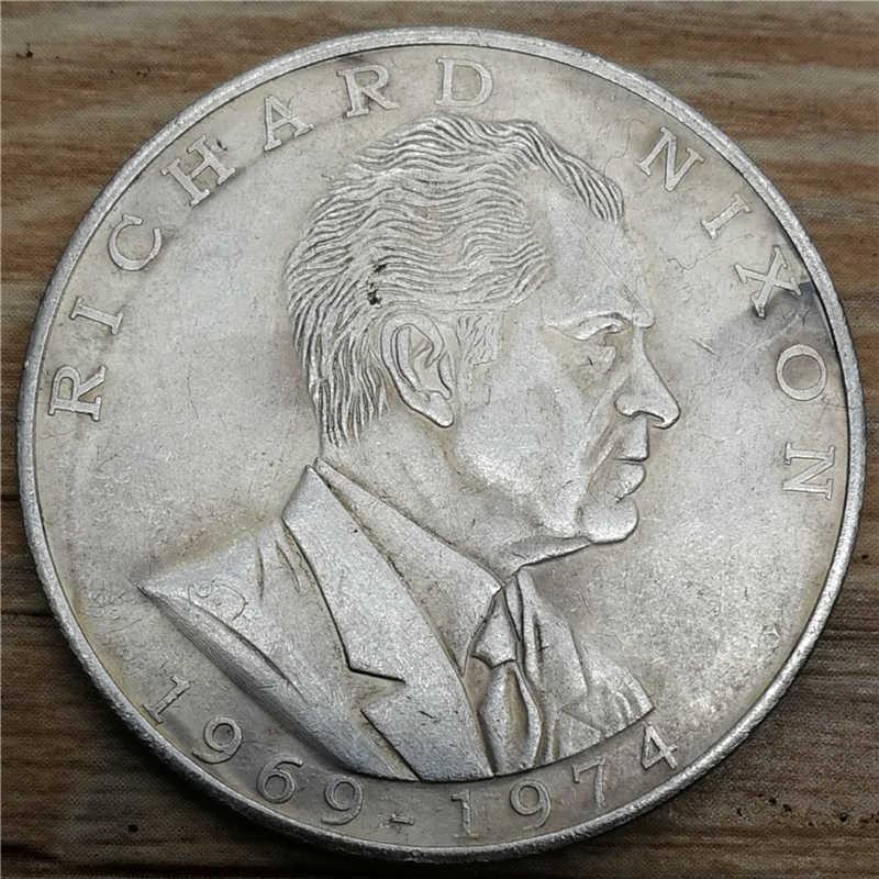 Античные монеты президент Ришар Никсон сувениры монета Соединенные Штаты